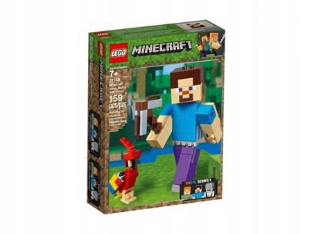 LEGO 21148 Minecraft BigFig Steve z papugą
