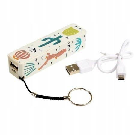 Rex London Power bank ładowarka USB Kaktusy